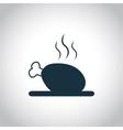 Chicken Single flat icon vector image