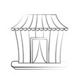 circus carnival tent vector image