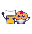 cupcake and drink design vector image