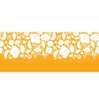 Gold and white floral silhouettes horizontal vector image