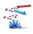 Image of confetti streamers and crackers vector image