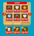 Interface buttons set for games or apps vector image