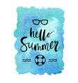 Motivation poster Hello summer Abstract background vector image