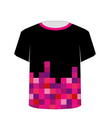 T Shirt Template- Pixel art vector image