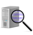 Computer search vector image vector image
