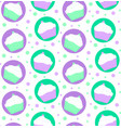 pattern of mint and violet cakes vector image