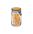 glass jar with swing top lid sketch vector image