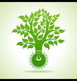 Bulb make Abstract Tree Design vector image vector image