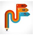 Pencil modern minimal arrow elements vector image vector image