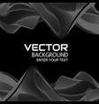 background rainbow ribbon effect black vector image