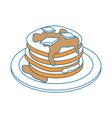 delicious pancakes breakfast vector image