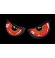 Evil red eyes vector image