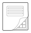 Folder with table excel icon outline style vector image