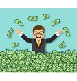 Success and wealth vector image