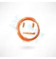 think grunge icon vector image