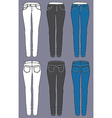 Woman jeans vector image