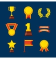 set awards championship icons vector image