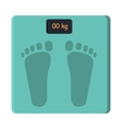 Bathroom Foot Scale Isolate Weight Control vector image