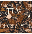 Tea tile vector image