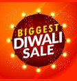 beautiful diwali sale template with light bulbs vector image