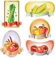 vegetables labels vector image vector image