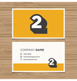 business card number 2 vector image vector image