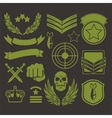 Special unit military patches vector image