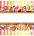 Sweet banner with colorful candies vector image vector image