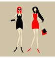Fashion girls for your design vector image