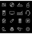 line computer icon set vector image