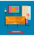 Living room interior in flat style vector image