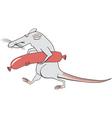 rat happiness vector image
