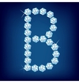 vector diamond alphabet letter b vector image