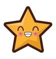 kawaii star icon vector image