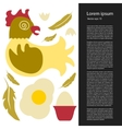 Poultry farming vector image