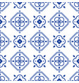 blue and white portugeese mediterranean seamless vector image