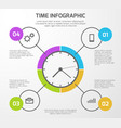 presentation background with time vector image