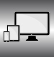 Responsive web design web - computer screen vector image