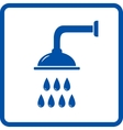isolated shower head vector image vector image