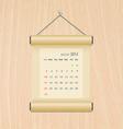 August2014 calendar on wood wall vector image