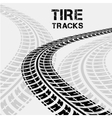 tire tracks in perspective view vector image vector image