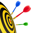 darts hitting the target vector image