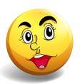 Happy face vector image vector image