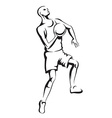 The athlete playing basketball vector image