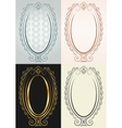 antique oval frame vector image vector image