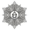 Zentangle stylized Round Indian Mandala with Hindu vector image vector image