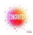 Congratulation beautiful design element for vector image