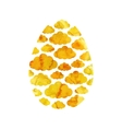 Gold Easter egg vector image