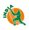 India cricket icon vector image