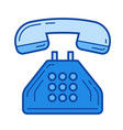 office phone line icon vector image